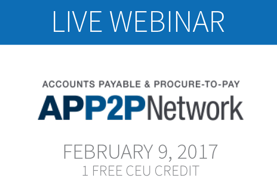 Upcoming Webinar from Certify and AP&P2P Offers Insight into the 2017 T&E Expense Management Trends