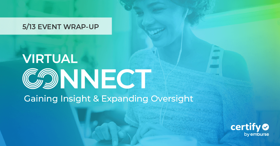5/13 Certify (Virtual) Connect Wrap-up