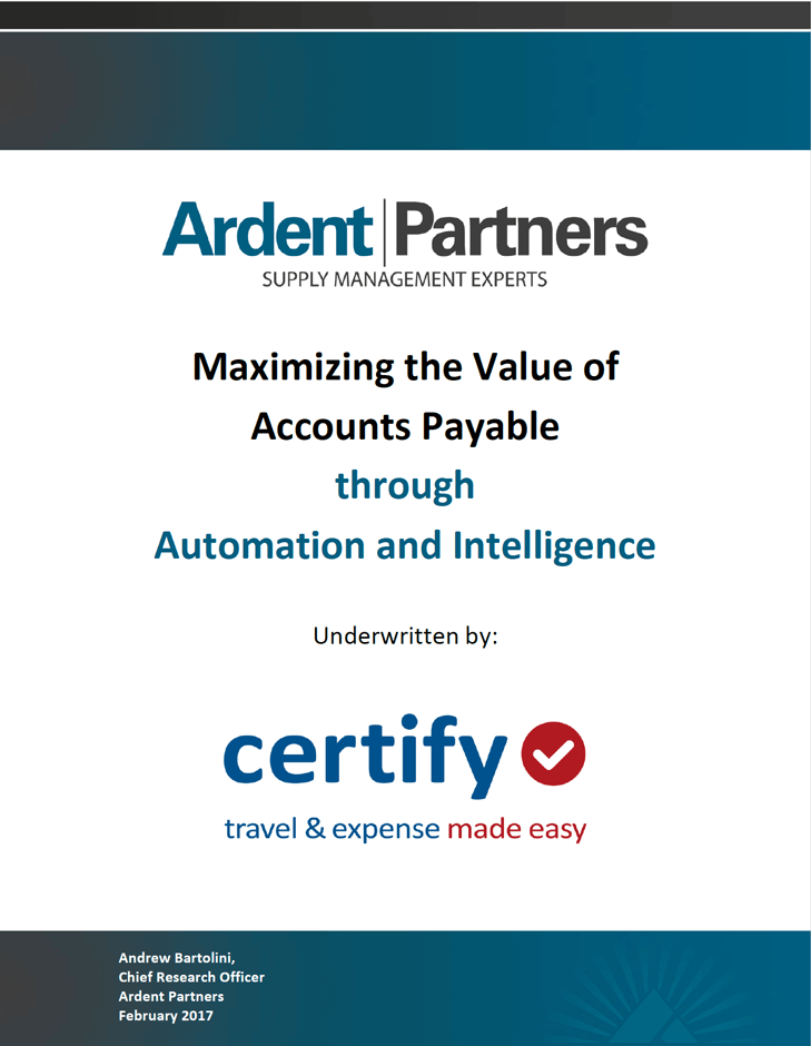 White Paper: Maximizing the Value of Accounts Payable through Automation and Intelligence