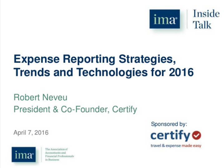 Expense Reporting Strategies, Trends and Technologies for 2016