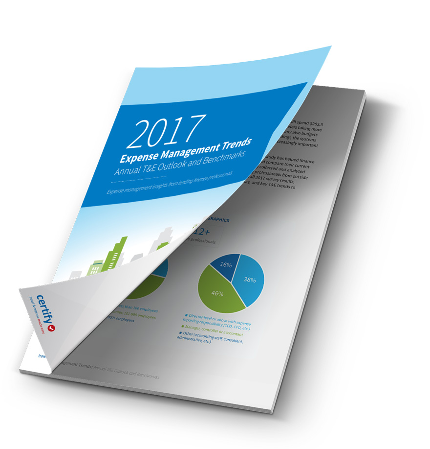 2017 Expense Management Trends, Annual T&E Outlook and Benchmarks Ebook