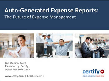 Auto Generated Expense Reports