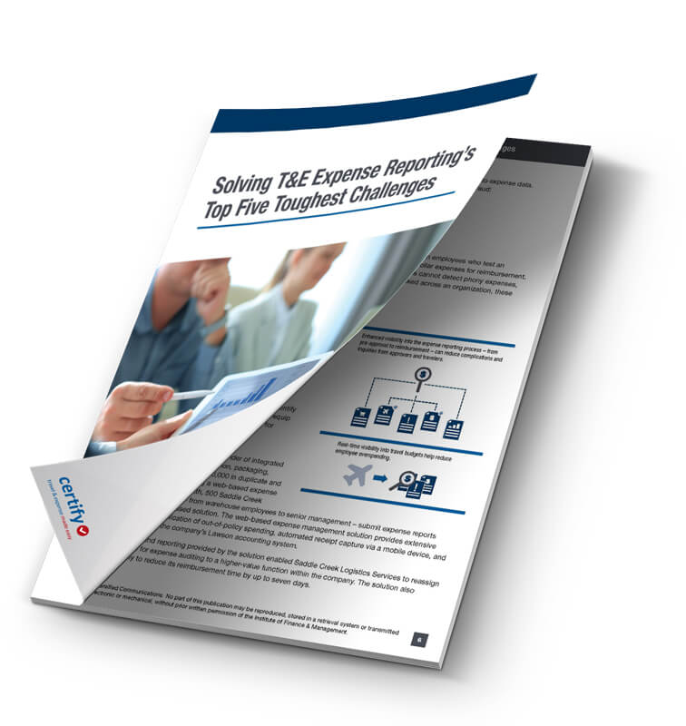 Solving T&E Expense Reporting's Top Five Toughest Challenges
