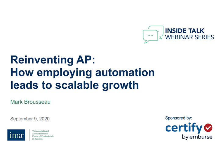 Reinventing AP: How employing automation leads to scalable growth