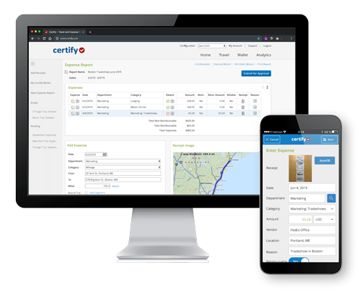 Certify - Travel and Expense Report Management Software