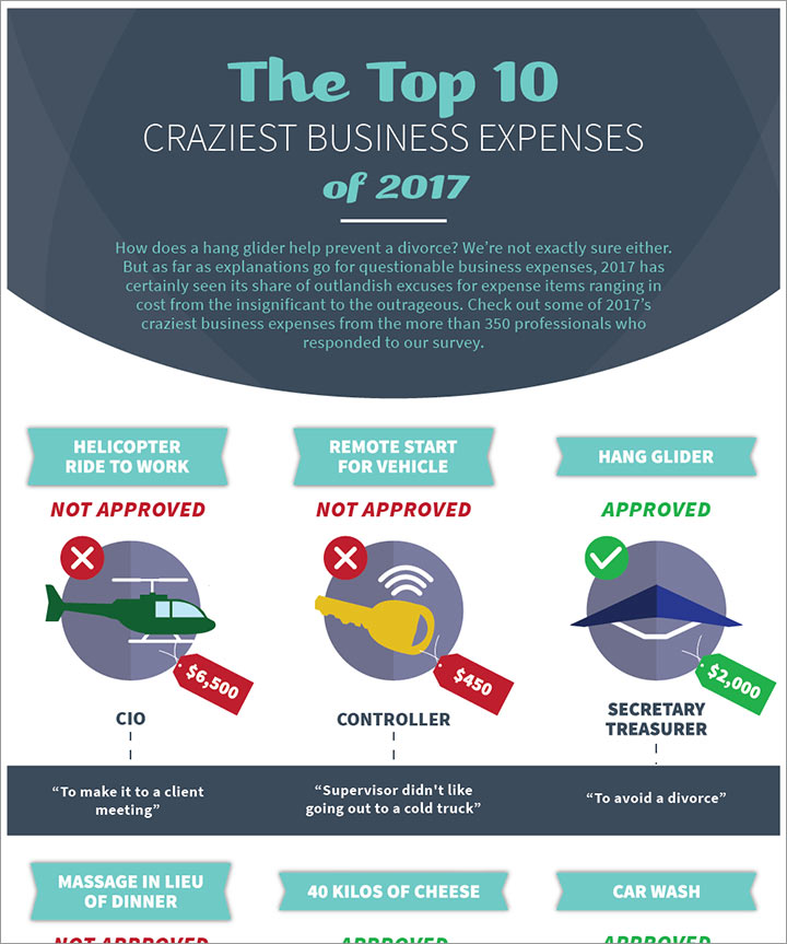 Top 10 Craziest Business Expenses 2017