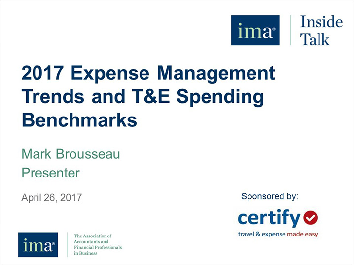 Current Expense Management Trends and T&E Spending Benchmarks