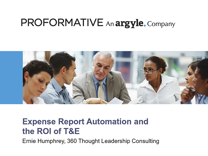 Webinar: Expense Report Automation and the ROI of T&E