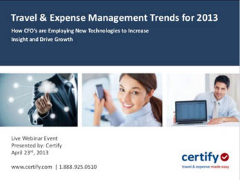 Travel & Expense Management Trends for 2013