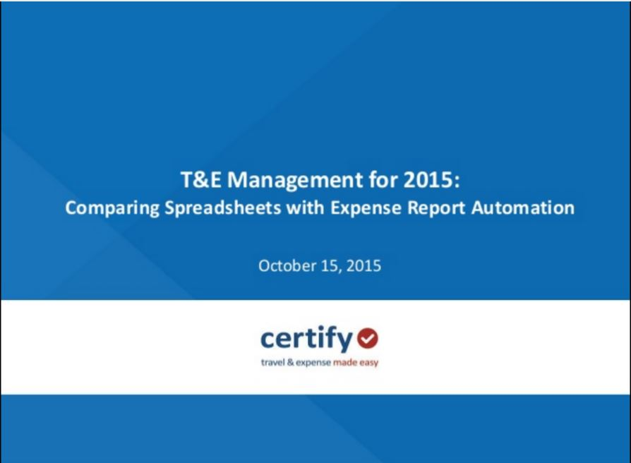 Comparing spreadsheets with expense report automation