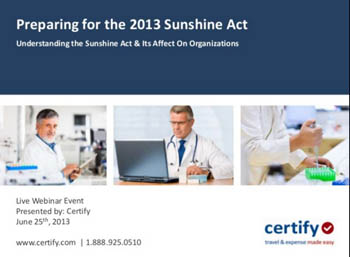 Understanding the Sunshine Act