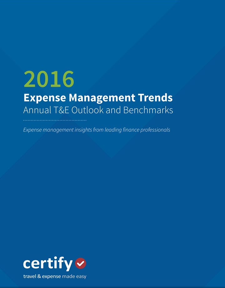 2016 Expense Management Trends: Annual T&E Outlook and Benchmarks