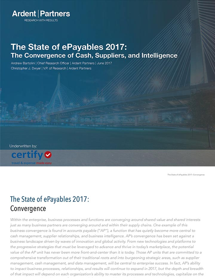 The State of ePayables 2017 White Paper