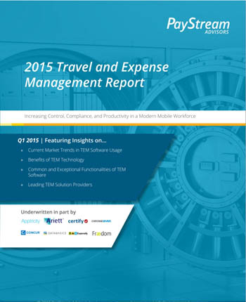 2015 T&E Management Report from PayStream Advisors