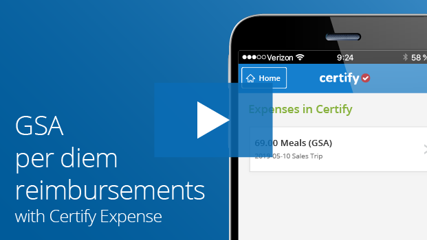 Certify Mobile Demo: GSA Per Diem Rate Services