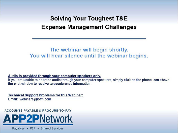 Webinar: Solving Your Toughest T&E Expense Management Challenges