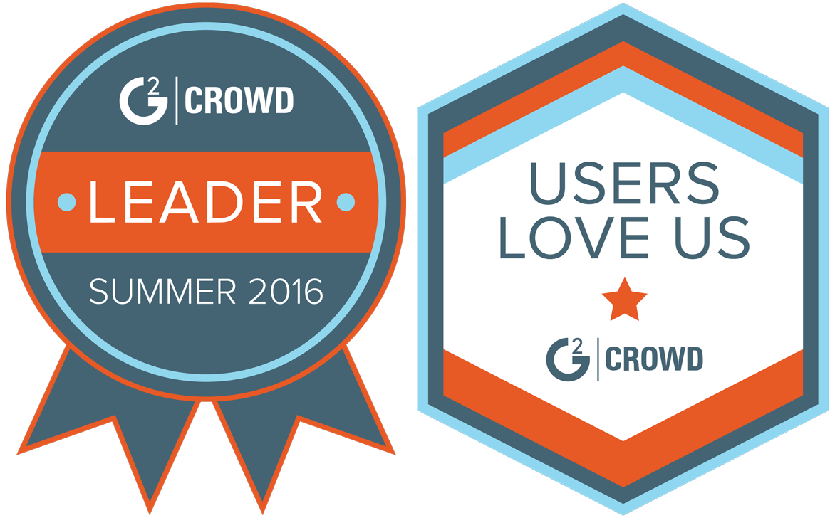 G2 Crowd Summer 2016 Leader and Users Love Us badges