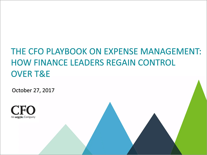 Webinar: The CFO Playbook on Expense Management: How Finance Leaders Regain Control Over T&E