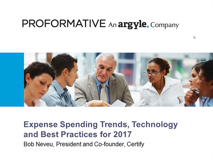 Expense Spending Trends, Technology and Best Practices for 2017