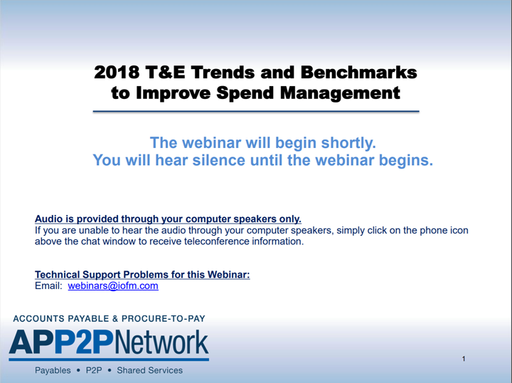 2018 T&E Trends and Benchmarks to Improve Spend Management