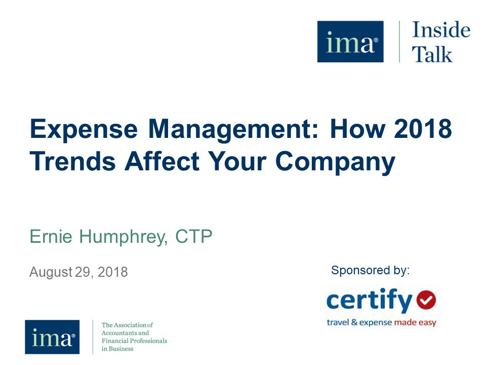 Expense Management: How 2018 Trends Affect Your Company