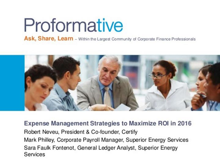 xpense Management Strategies to Maximize ROI in 2016