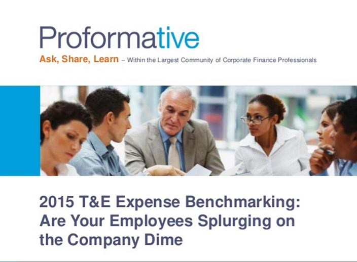 2015 T&E Benchmarking