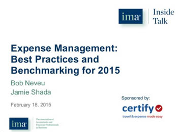 Best Practices and Benchmarking for 2015